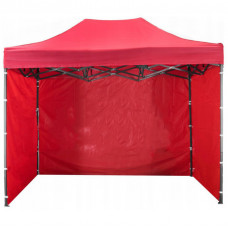 Стенка на шатер боковая 7 м / 3 стенки 2 м х 3 м красная навис
