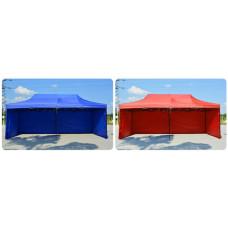 Большой двух купольный шатер 3х6м белый раскладной